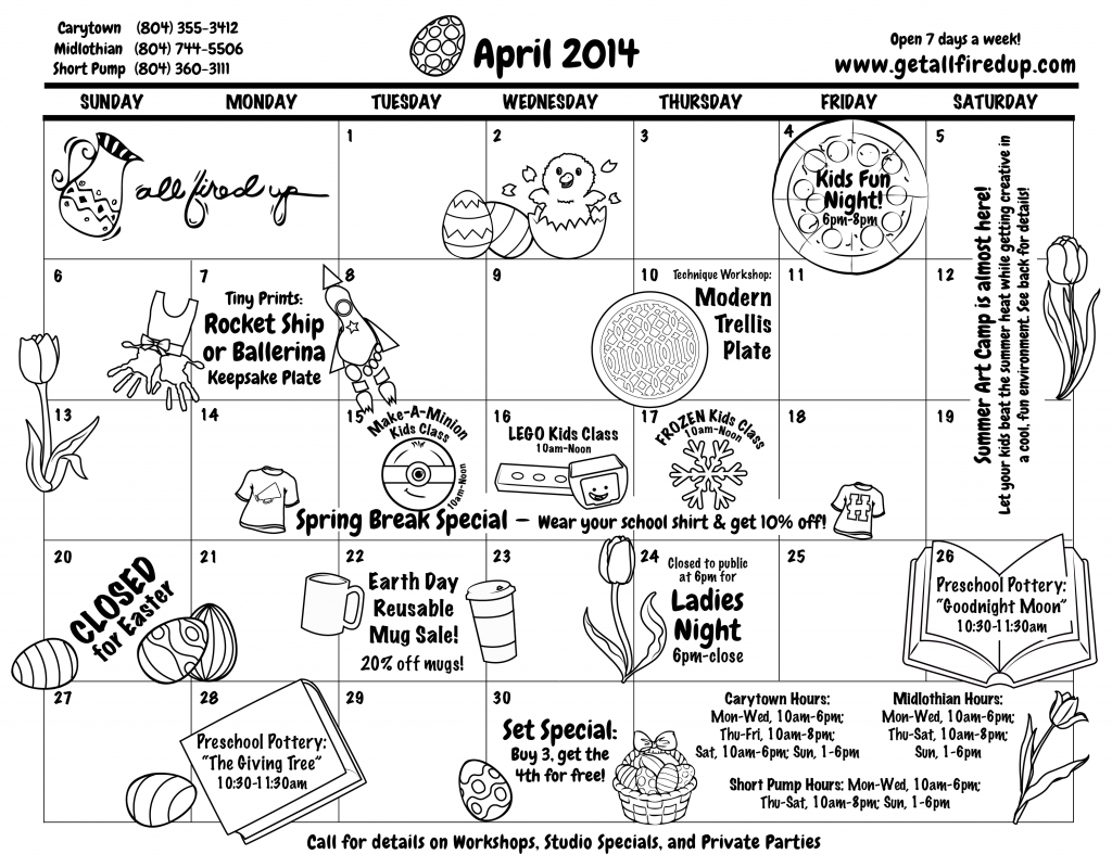 March April May 2014 Calendar 04 april 2014 calendar front-