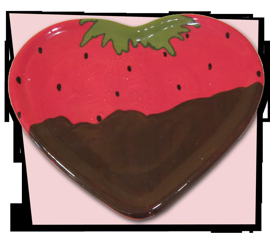 ChocolateStrawberryHeartPlate